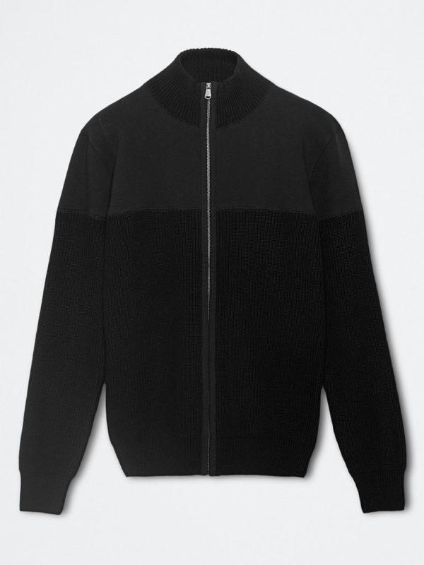 Full zip felpa maglia nera 2 25 Novembre 2020