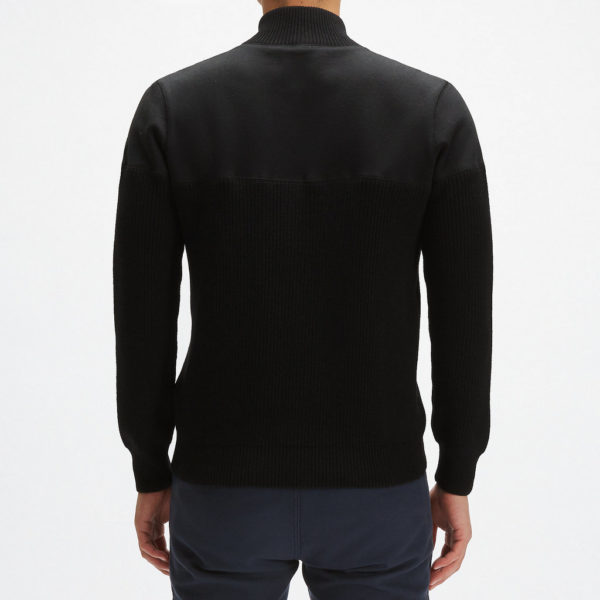 Full zip felpa maglia nera 3 25 Novembre 2020