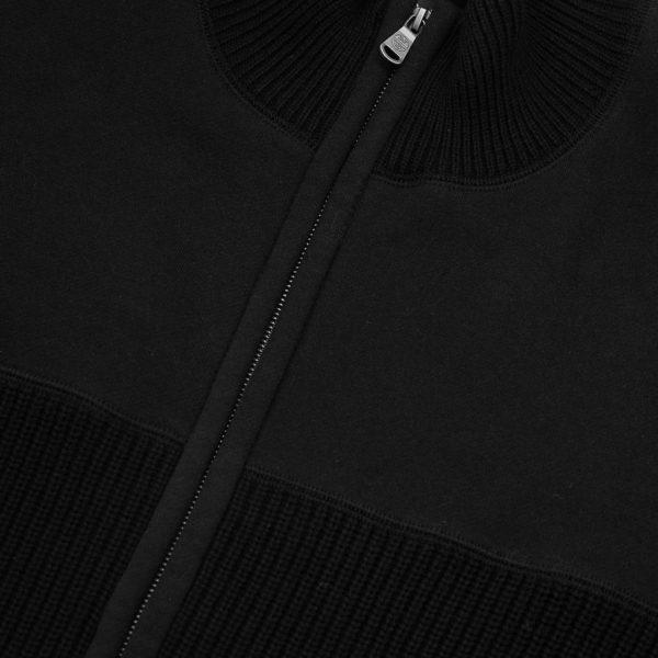 Full zip felpa maglia nera 4 25 Novembre 2020