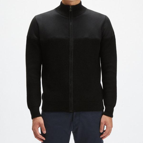 Full zip felpa maglia nera 25 Novembre 2020