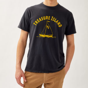 T SHIRT TREASURE ISLAND IN JERSEY DESTROYED ROY ROGERS 3882 dettaglio 19 Settembre 2021